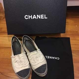 Authentic Chanel Espadrilles 37
