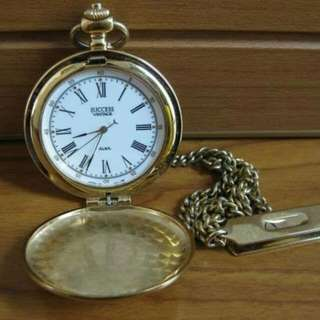 Jam second import SUCCESS VINTAGE ALBA hand winding pocket watch V-301-0010
