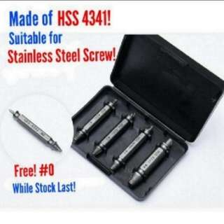 HSS 4341 Damaged Screw  Extractor Suitable for Stainless Steel Screw [ 👉➕ 1 FREE #0 While stock last! ]
