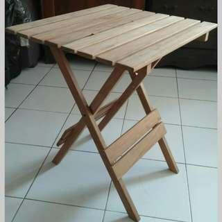Meja lipat kayu jati/folding table/meja belajar/meja teras