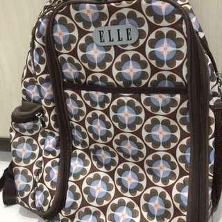 Baby bag Elle original bacpack dgn tatakan perlak