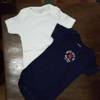 Take all onesies 3pcs 0 to 3 mos and 1 pc 6 to 9 mos