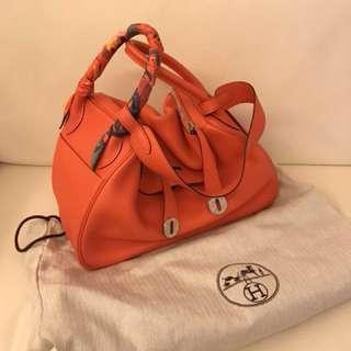 PRICE DOWN!! Authentic Hermes Lindy 30 in Orange Poppy  85% new