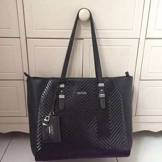 AUTHENTIC GUESS TOTE BAG - BLACK
