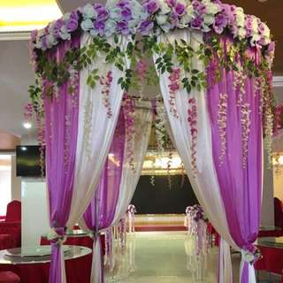 Wedding flower curtain decor pavilion