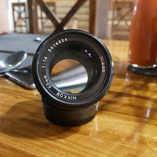 Nikkor 50mm f 1.4 ais mulus like new