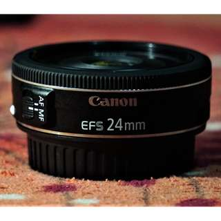 Canon 24mm f/2.8 STM (Include original lens box)