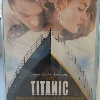 Titanic Poster with frame