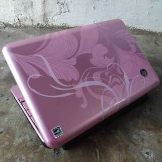 Notebook Hp Mini Motif Bunga Mulus 98% Ram 2 Hdd 250