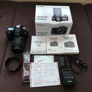 Canon EOS 80D +EFS 18-135 IS USM Kit 公司貨過保