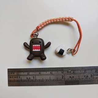 NEW Domo-kun with Onigiri Novelty Keychain