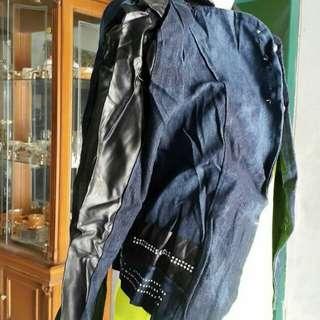 Jaket jeans kulit