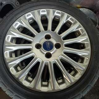 16 Ford Mags,complete set of 4 with tire