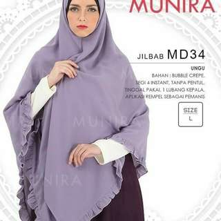 Jilbab segiempat instan rempel