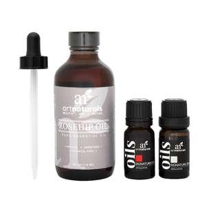 ArtNaturals Pure Rosehip Seed Oil And Essential Oils, Value Set of 3