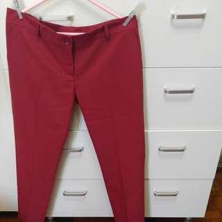 紅色長褲(全新),意大利製造