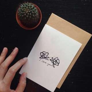 [Vday] Handmade Lino Cut card