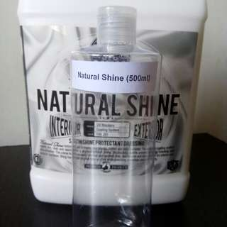RESTOCK - 500ml  Chemical Guys  Natural Shine Satin Shine Dressing In unlabelled refill bottle with dispensing cap (Z21TNDF6S1)