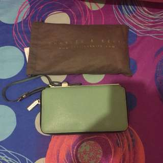 Charles n Keith Green wallet