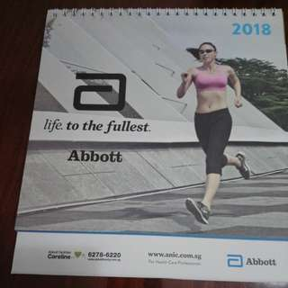 *Free to bless, pay PH only*2018 desk calendar from Abbott
