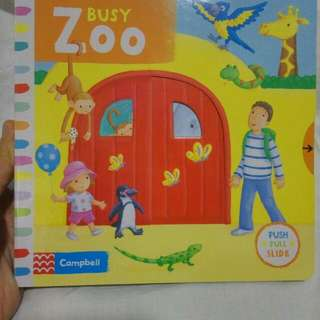 BUKU IMPORT -  BUSY BOOK ZOO,  PUSH PULL SLIDE BOOK