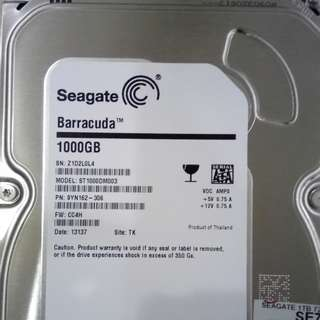 "Seagate Barracuda 3.5"" 1Tb Hard Drive"