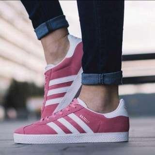 ★全新★Adidas Gazelle愛迪達經典復古款桃紅色麂皮女鞋