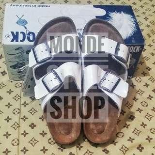 Authentic Birkenstock Arizona White Sandals Size 38