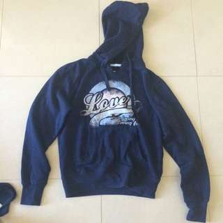 Factorie Navy Hoody size Small