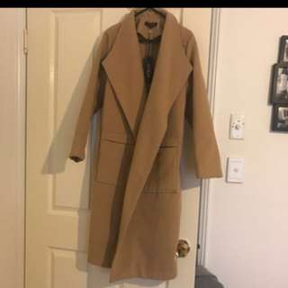 New Long Camel Coat