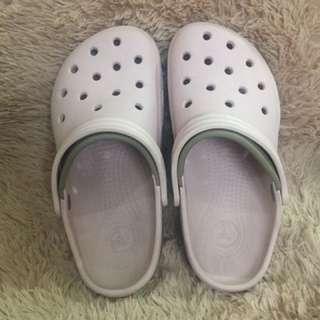 Crocs Pink&Gray Slip ons