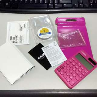 Casio hot pink calculator