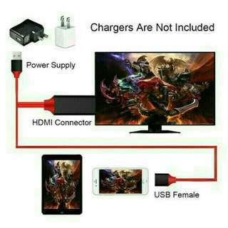 Tv HDMI cables  for iPhone iPad Samsung & projector.