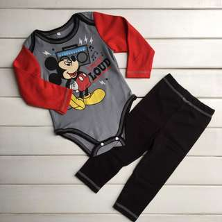 Mickey Red Set (9m, 18m, 24m)