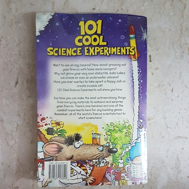 101 cool science experiments, Books & Stationery, Fiction on