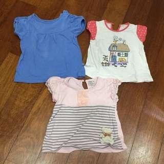 Shirts x 3pcs size 6m-1y