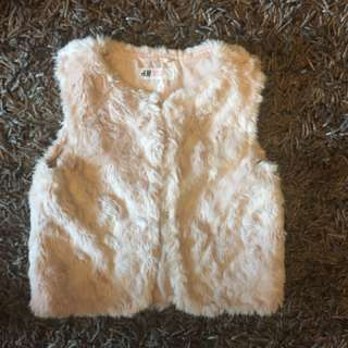 H&M Girls Fur Vest