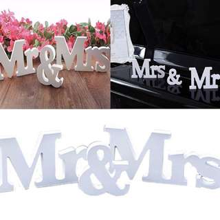Mr & Mrs Decoration