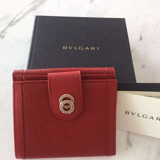 BNIB (Price Reduced!) Authentic Bvlgari Wallet (Red)