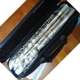 95% New  Yamaha 222 長笛 Flute (Tom Lee 保用 2018年9月才到期) ~ 不少老師推介的品牌及型號