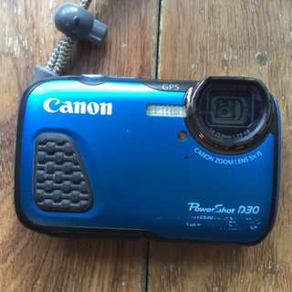 Canon D30 adventure water proof camera