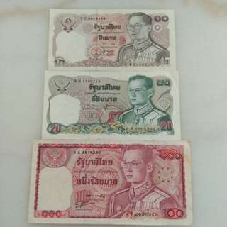 Old Thai Bank Notes