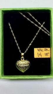 18K Saudi Gold Initial Necklace