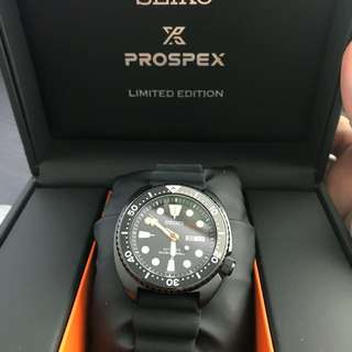 SEIKO PROSPEX LIMITED EDITION BLACKED OUT TURTLE SRPC49K1
