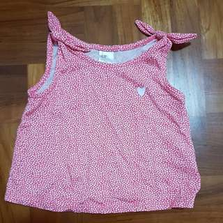 Sleeveless Bow singlet