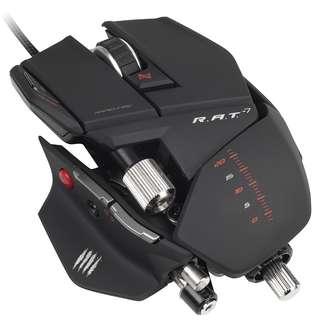 全新Mad Catz R.A.T.7 Gaming Mouse (White/Black) 滑鼠 打機必備