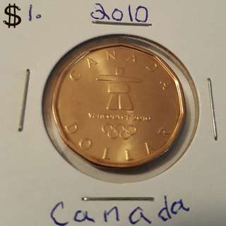 2010 Canadian Dollar From Mint Roll In 2x2 holder.