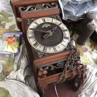 Antique Wall Wooden Clock