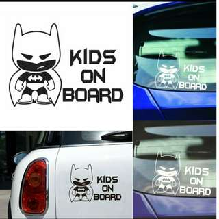 Kids On Board Decal For Car (Black/White)