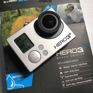 Gopro hero 3+ black full box